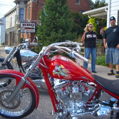 Bikers at Rick's Hog Wild BBQ in East Berlin, PA