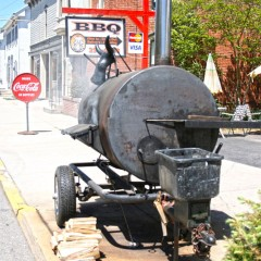 The smoker at Rick's Hog Wild.