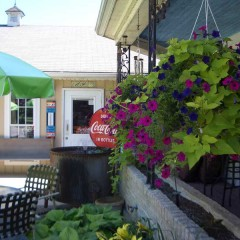 Outdoor Dining area at Rick's Hog Wild East Berlin, PA